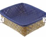 Korb mit blau-weiß Deckchen 8, incl. Verpackung