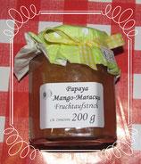 Papya-Mango-Maracuja Fruchtaufstrich 200g --F221