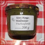 Kiwi-Mango-Waldmeister Fruchtaufstrich 200g  --F232