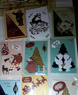 Grußkarte Weihnachten Handgemacht--verschiedene Sorten
