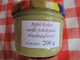 Apfel-Kokos-Weiße-Schokoladen Fruchtaufstrich 200g--F174