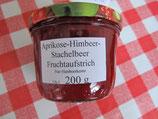 Aprikosen- Stachelbeere-Himbeere-Vanille Fruchtaufstrich 200g--  F4