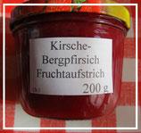 Sauerkirsche-Pfirsich Fruchtaufstrich 200g--F90