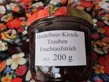 Heidelbeeren-Kirschen-Trauben Fruchtaufstrich 200g--F142