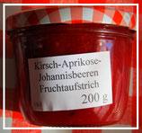 Kirschen-Aprikosen-Johannisbeeren Fruchtaufstrich  200g --F193