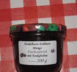 Erdbeere-Heidelbeere-Mango-Tonkabohnen-Fruchtaufstrich 200g -- F234