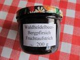 Waldheidelbeeren & Bergpfirsich Fruchtaufstrich 200g--F110