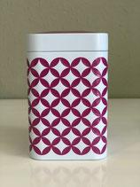 Teedose mit geprägtem Muster rose