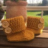 Baby Boots -gehäkelt- umgeschlagenen Rand