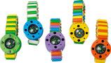 Bracelet boussole et toupie multicolore