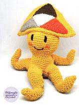 Peertube Mascotte amigurumi en coton au crochet