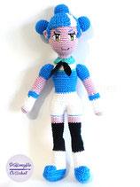 Poupée Godot Chan au crochet en coton, mascotte du projet Godot Engine