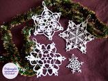 lot de 4 Flocons de neige décoration de Noël pour sapin