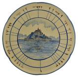 """Plat diviseur """" Mont Saint-Michel bleu"""""""