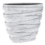 Ovaler Übertopf- Stein