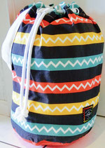 """""""jagged and striped"""" Seabag large"""