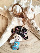 Bijoux de sac porte clé chinoise bleu