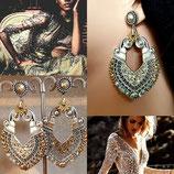 """Boucles d'oreilles """" Lady Lili """" - argenté et doré"""