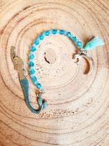 Adorable marque page sirene bleu