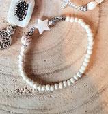 Bracelet étoile de nacre et howlite écrue