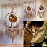 """Boucles d'oreilles """" SWING CHIC """" argent bronze doré"""