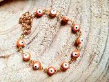 Bracelet fillette fantaisie oeil- mandarine