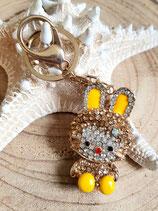 Bijoux de sac porte clé strassé - lapin