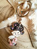Bijoux de sac porte clé chinoise rose