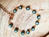 Bracelet fillette fantaisie oeil- vert sapin