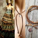 """Bracelet collier """" FOR GIRL """" camel"""