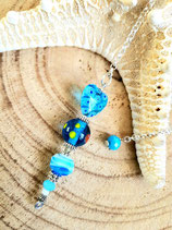 pendule turquoise coeur #3
