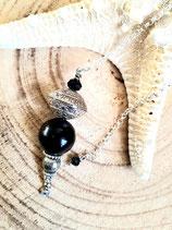 Pendule noir et argent