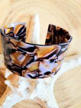 Bracelet acrylique tortue nacre plat