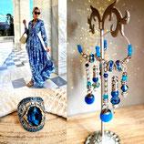 """Boucles d'oreilles """" ATHENA """" version bleue"""