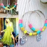 Grandes créoles MEXICANA  multicolores