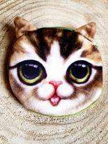 Porte-monnaie enfant - chat beige #1