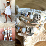 Bracelet MAMAQUILLA 2 tours blanc