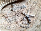 Chaîne fine argent pendentif étoile
