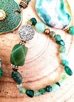Bracelet aventurine et gravier vert