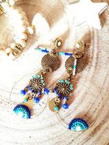 "B.O. "" Soul of India "" en turquoise & bleu cobalt"