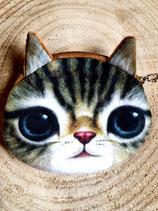 Porte-monnaie enfant - chat gris vert#3