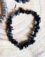 Bracelet homme en chips de pierre noire