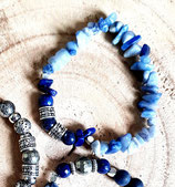 Bracelet homme chips bleues