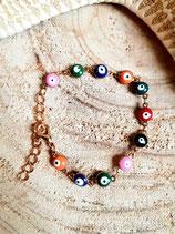 Bracelet fillette fantaisie oeil- multicolor