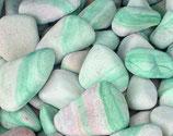 Piedra río Kisil, verde y blanca