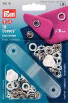 Prym Jersey Druckknöpfe Zackenring  10 mm weiß
