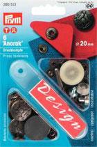 Anorak Druckknöpfe 20 mm altsilber