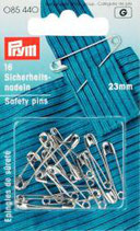 Prym 12 Kugelsicherheitsnadeln, Stahl 23 mm