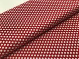 Baumwolle Punkte rot/weiß