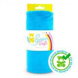 Kullaloo Plüschstoff Shorty uni 1,5 mm blau